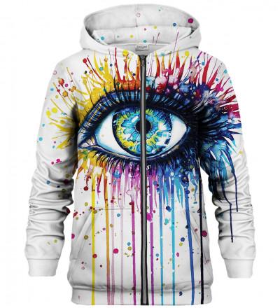 Eye zip up hoodie
