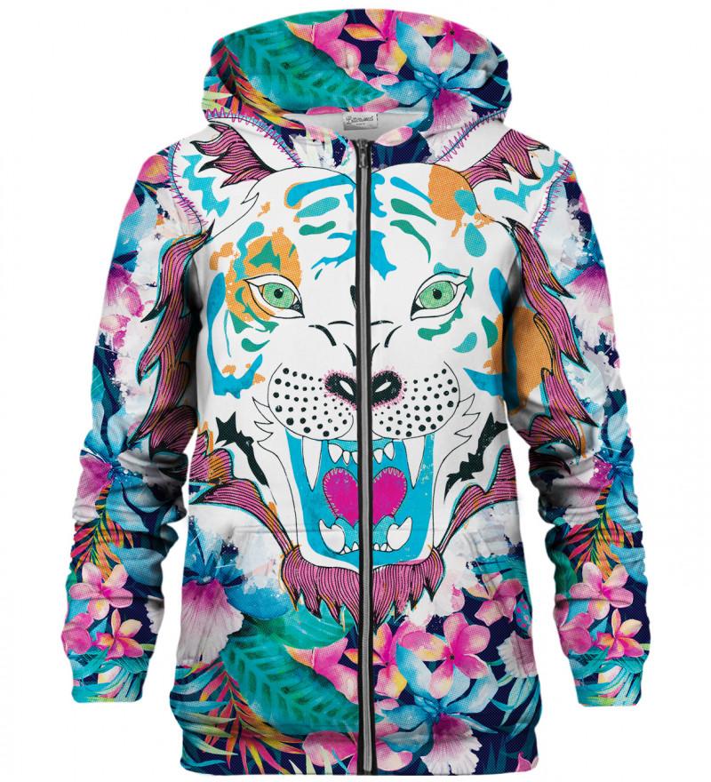 Flower Tiger zip up hoodie