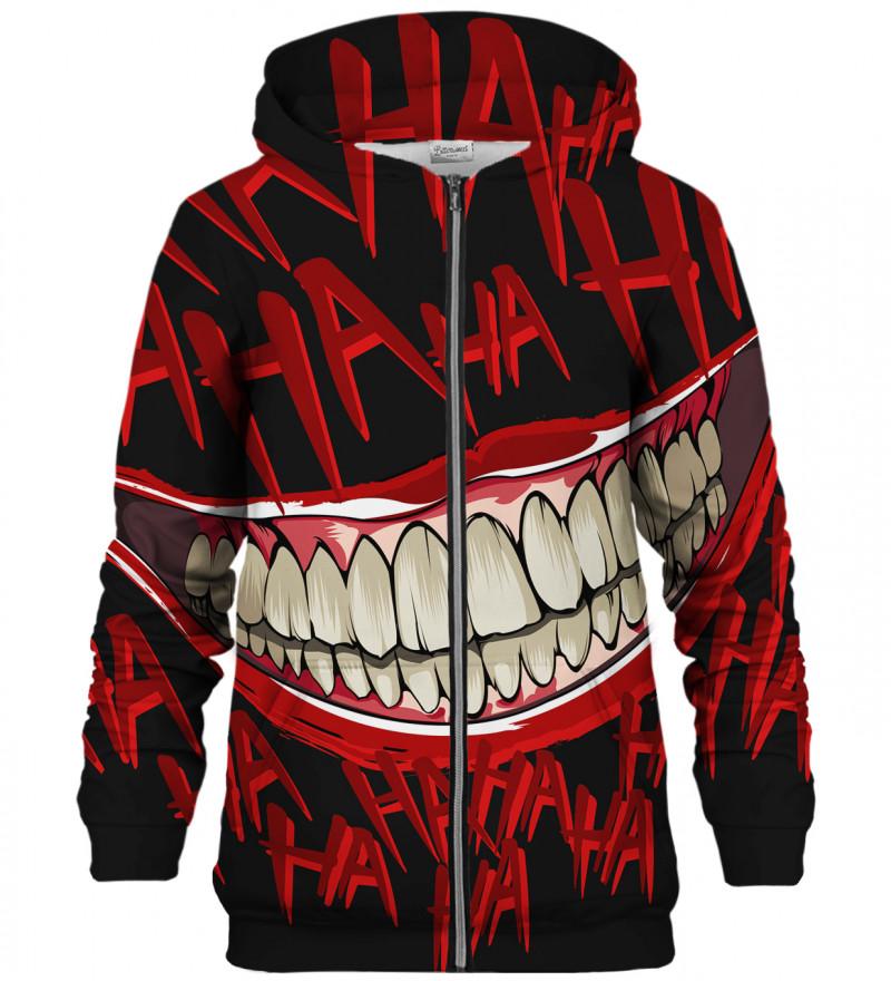 Hahahah Black zip up hoodie