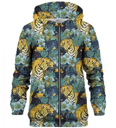 Jungle Tiger zip up hoodie