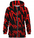 Just Hahaha Red zip up hoodie