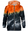 Mighty Forest Orange zip up hoodie