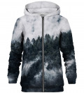 Mighty Forest Grey zip up hoodie