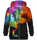 Painter Gradient Black zip up hoodie