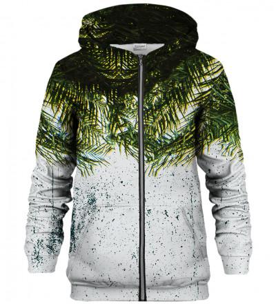 Palm Leaves zip up hoodie