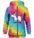 Pixel Unicorn zip up hoodie