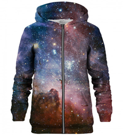 Purple Galaxy zip up hoodie