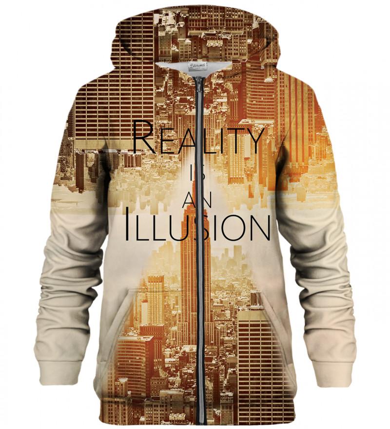 Reality zip up hoodie