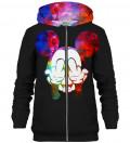 Rebel Gradient Black zip up hoodie