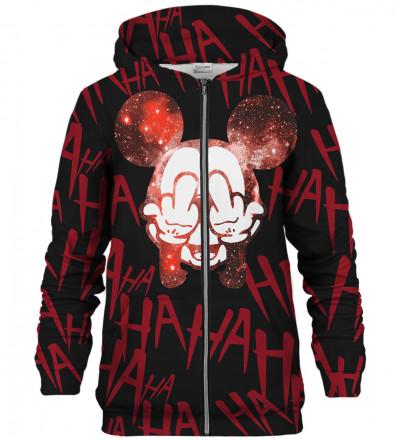 Rebel Hahaha Black zip up hoodie