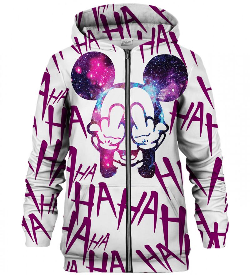 Rebel Hahaha White zip up hoodie