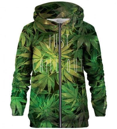 Weed zip up hoodie