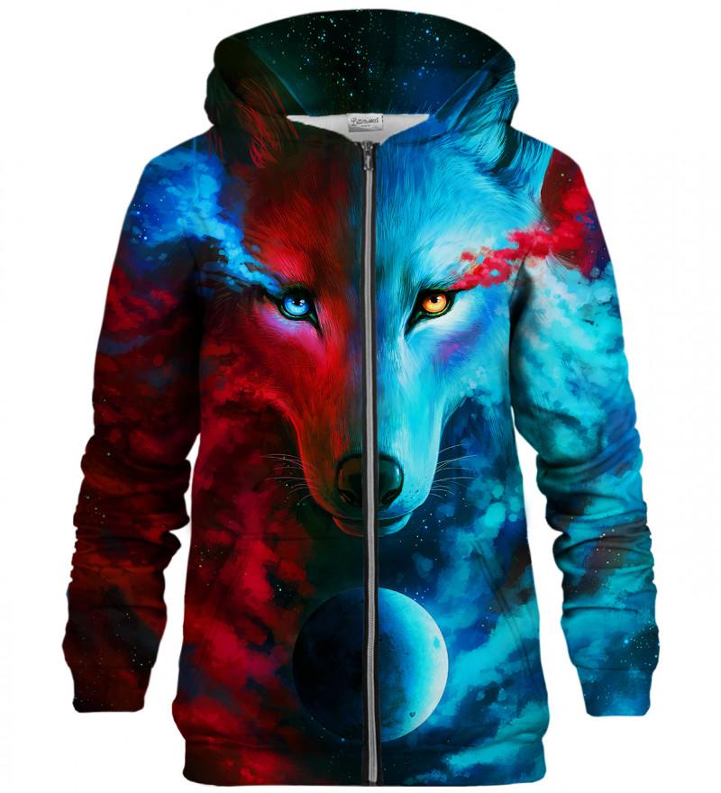Dark and Light Meet zip up hoodie