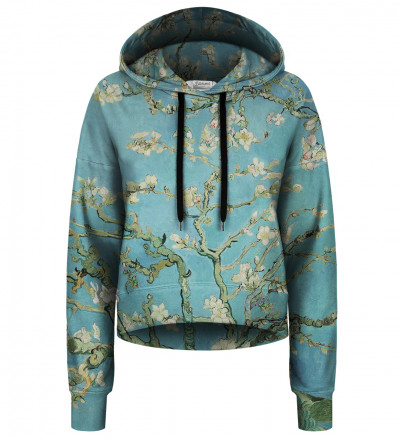 Almond Blossom cropped hoodie without pocket