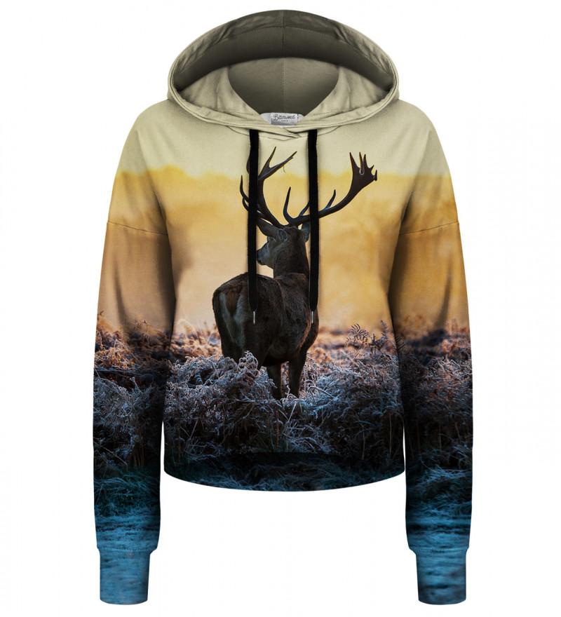 Deer cropped hoodie without pocket
