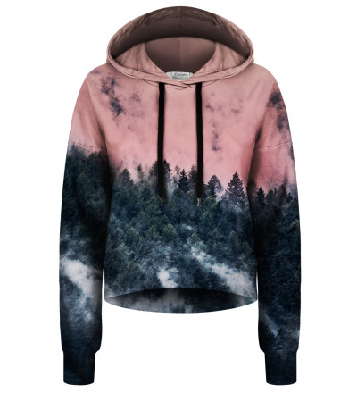 Crop hoodie bez kieszeni Mighty Forest