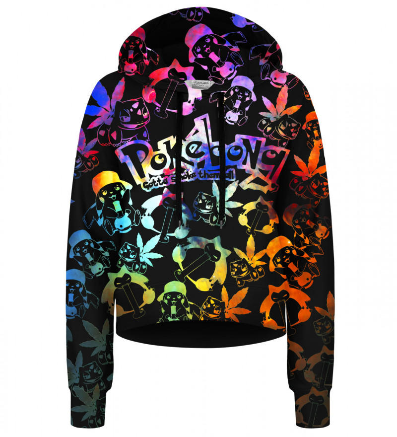 Pokebong Gradient cropped hoodie without pocket