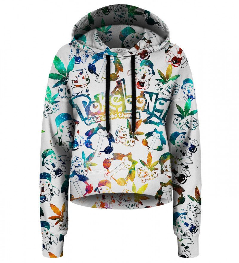 Pokebong cropped hoodie without pocket