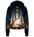 Soul Keeper cropped hoodie without pocket