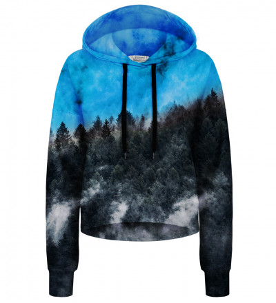 Mighty Forest Blue cropped hoodie without pocket