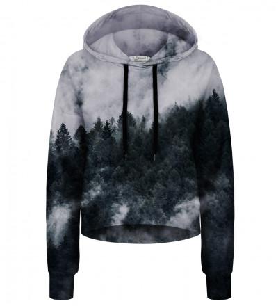 Crop hoodie bez kieszeni Mighty Forest Grey