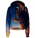 Night Guardian cropped hoodie without pocket