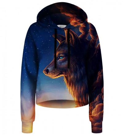 Crop hoodie bez kieszeni Night Guardian
