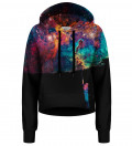 Paint your Galaxy cropped hoodie without pocket