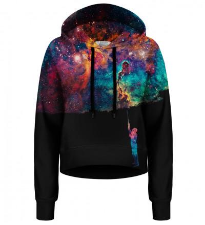 Crop hoodie bez kieszeni Paint your Galaxy
