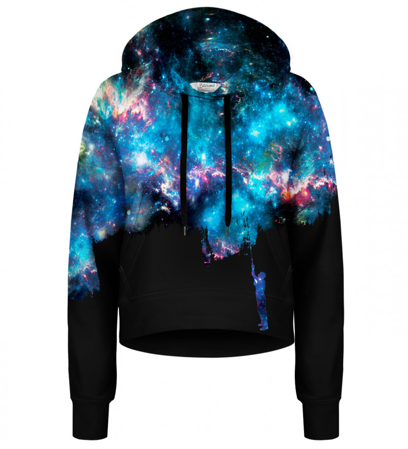 Another Painting Black cropped hoodie