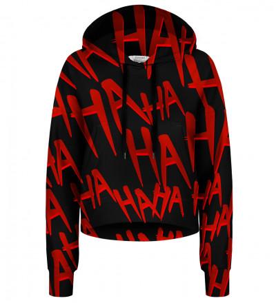 Just Hahaha cropped hoodie