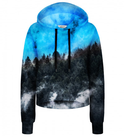 Crop hoodie Mighty Forest Blue