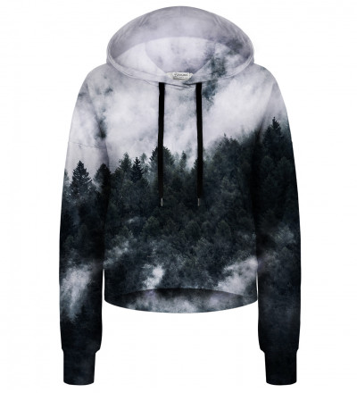 Mighty Forest Grey cropped hoodie