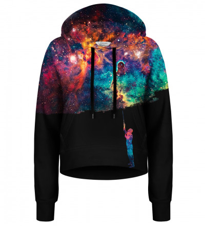 Crop hoodie Paint your Galaxy