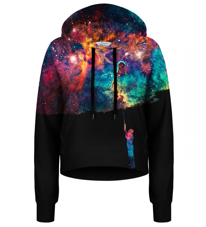 Paint your Galaxy cropped hoodie