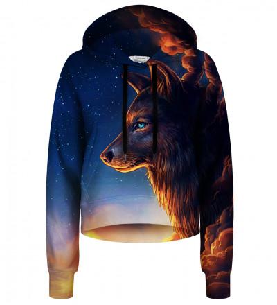 Night Guardian cropped hoodie