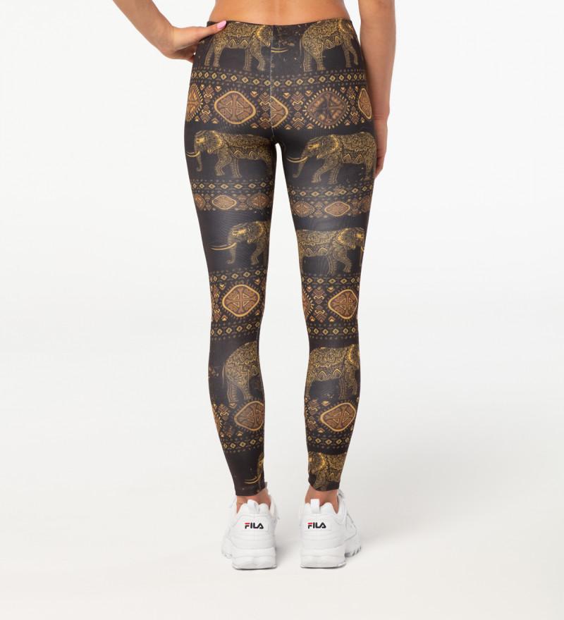 Golden Elephants leggings