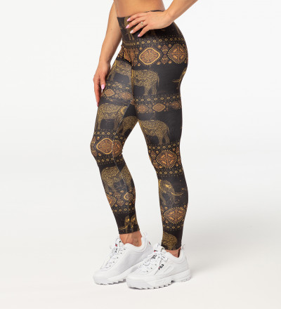 Golden Elephants leggings