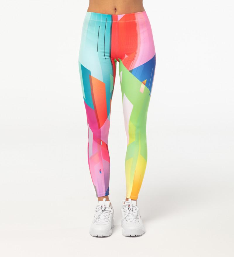 Geometric Explosion leggings