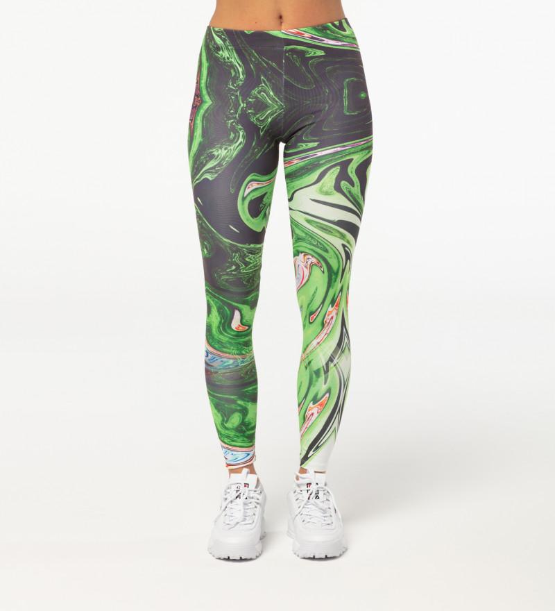 Green Split leggings