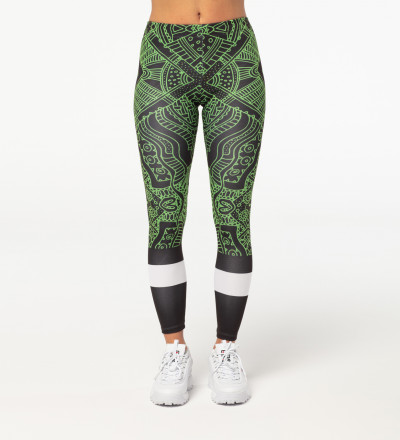 Green Pattern leggings