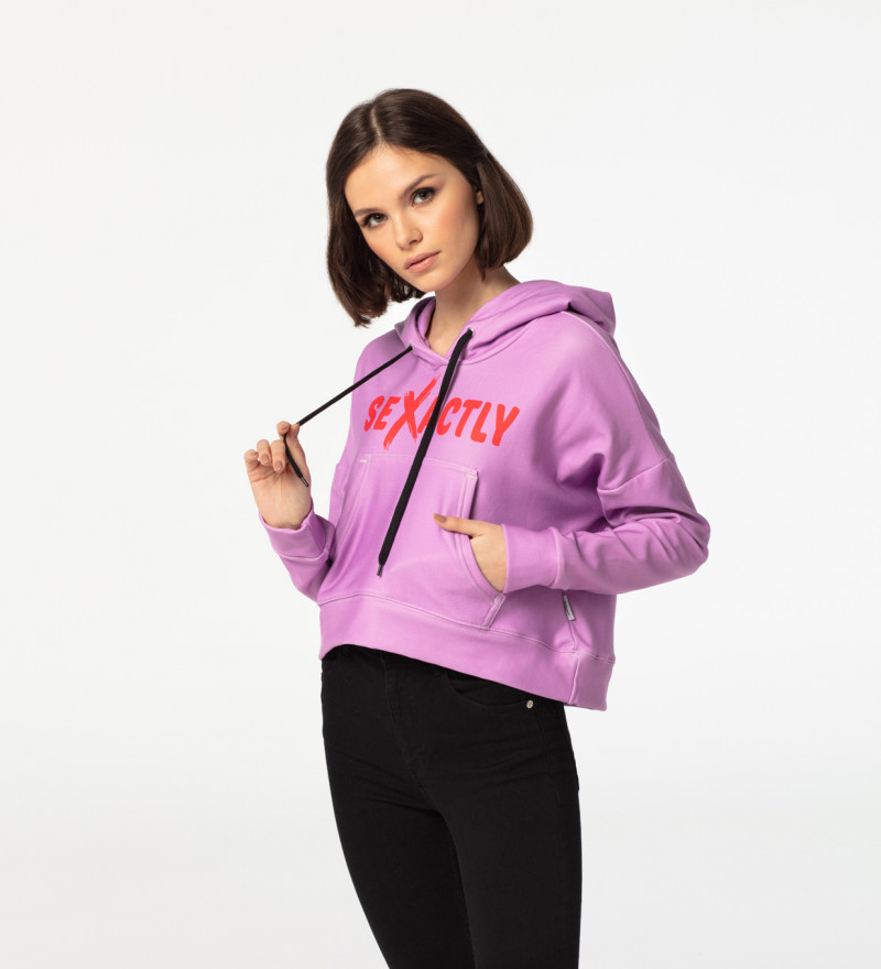 Sexactly cropped hoodie