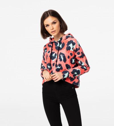 Crop hoodie Panther Skin