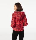 Red Skin cropped hoodie