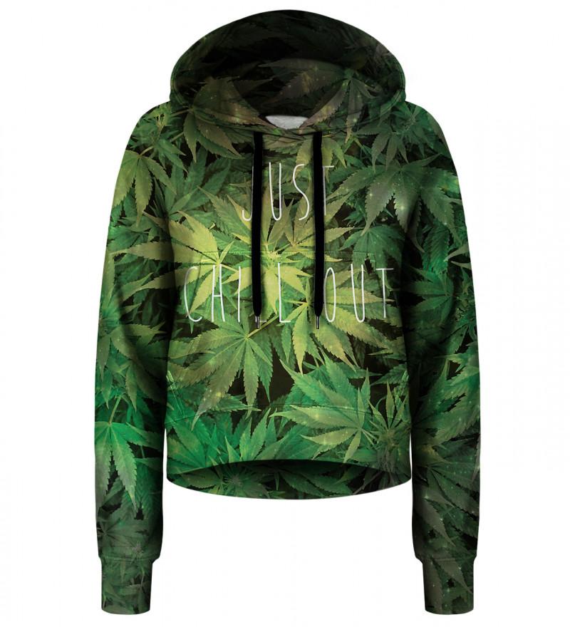 Crop hoodie Weed