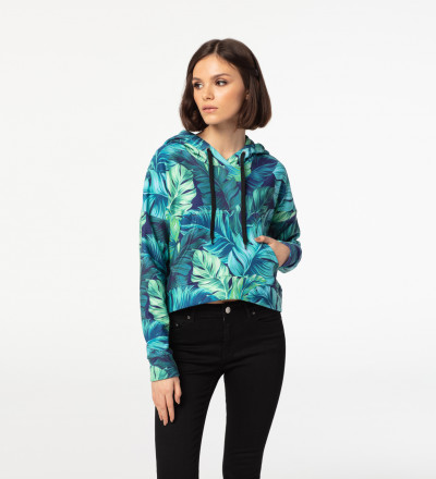 Blue Paradise cropped hoodie