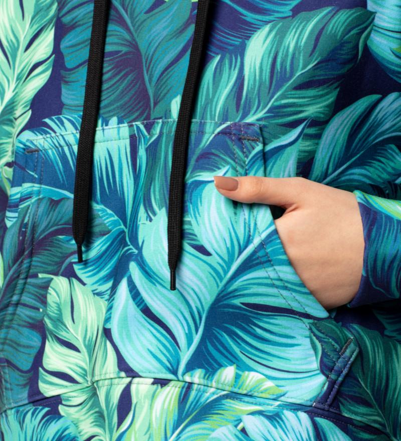 Crop hoodie Blue Paradise