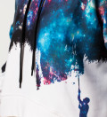 Another Painting cropped hoodie without pocket