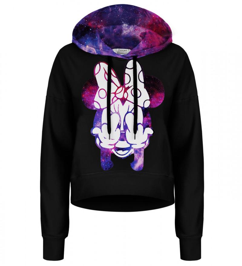 Crop hoodie bez kieszeni Rebel Girl