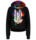 Rebel Girl Gradient cropped hoodie without pocket